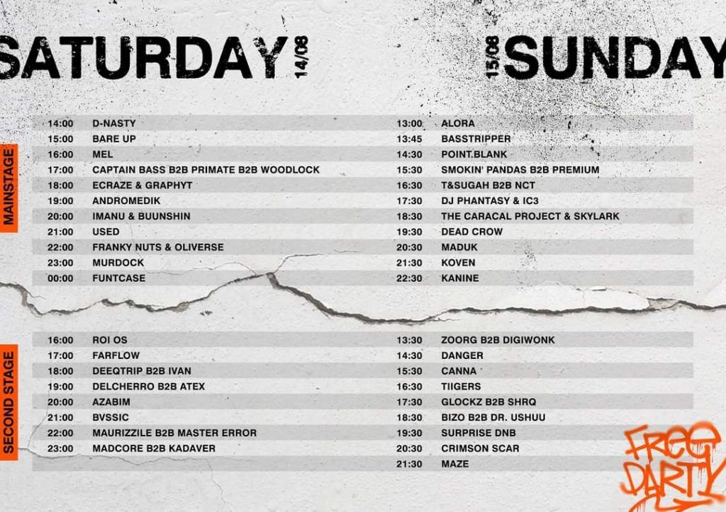 Rampage Free Party Lineup